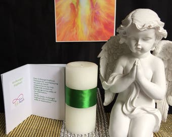 Pure angels candle and prayer pack Archagel Raphael
