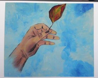 "9 x 12 Print of original Acrylic Painting ""GRasp"""