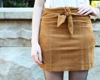 Caramel Tie Skirt
