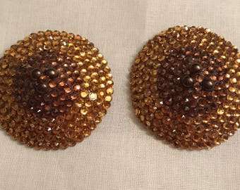 Bronze and Brown Nipple Pasties 3""