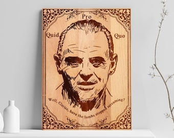 Hannibal Lecter Wooden Engraved Poster