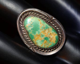 Vintage Dead Pawn Native American Turquoise Ring
