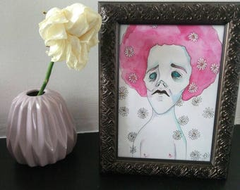 Daisy - illustration 13x18cm