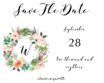 Simple Blush Floral Save The Date
