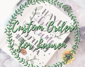 Custom Lettering for Lauren