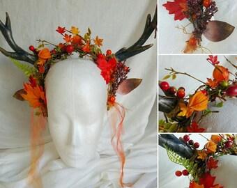 Autumn Faun Headdress