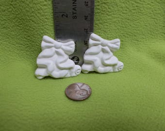 Ceramic Bisque Ribbon Bows Magnet-Ready to paint