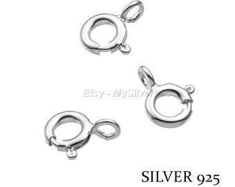 6mm - 1, 10 or 100 925 Sterling Silver Spring ring clasps - discount