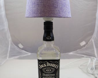 Jack Daniels table lamp, whisky bottle, decorating, upcycling, shabby,