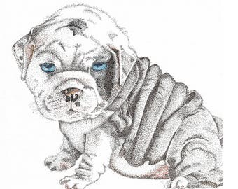 Stippled - Bulldog puppy