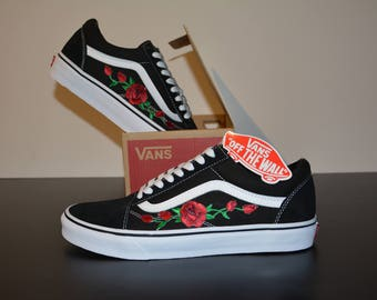Vans Old Skool Rose/unisex shoe incl. rose embroidery/Rose patch