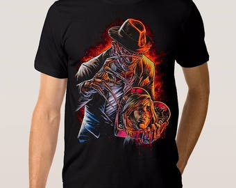 Freddy Krueger Art T-shirt, Nightmare On Elm Street Tee, All Sizes