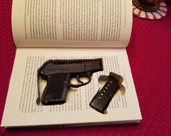 "Book safe for Kel Tec P32, P3AT, or Ruger LCP, in. 32 or. 380. The title is ""That Old Ace in the Hole"""