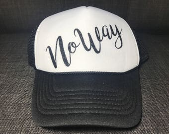 "Black ""No Way"" hat"