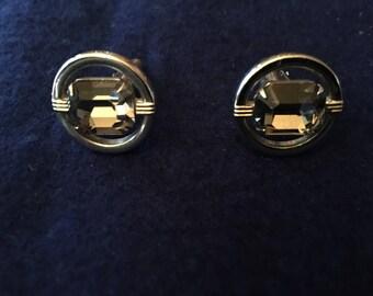 Vintage Swank brand rhinestone style cufflinks