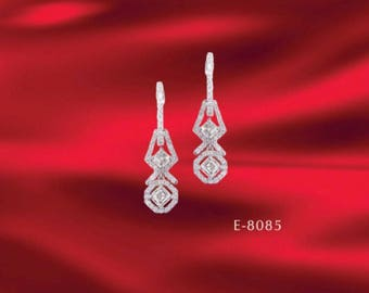 18k white gold and diamond earring