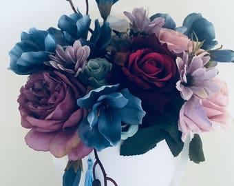 Sunshine Coast artificial flower arrangement bouquet blue in a box wedding, home decor, baby born, gift