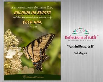 Scripture Magnet | Christian Gifts | Bible Verse | Birthday Gift | Home Décor | Encouragement Gift | Motivational Magnet | Hebrews 11:6