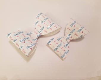Pair of big sister/little sister bows