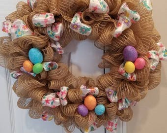 Easter Burlap Wreath