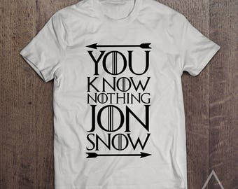 You Know Nothing Jon Snow - Game Of Thrones T-Shirt