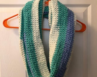 Mint Green and Light Blue Cowl Neck Scarf