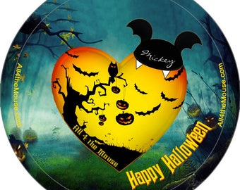 All 4 the Mouse Halloween Buttons