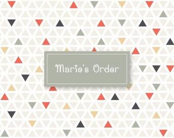 Marie's Custom order