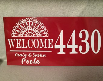 Custom Metal Address Sign