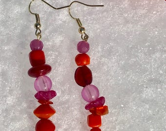 Passion Colored Earrings
