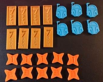 Star Wars Destiny Tokens Set custom 3D printed
