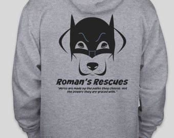 Roman's Rescue adult hoodie