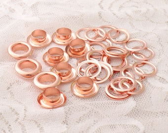 eyelets 13*7.5*5mm metal copper grommets eyelets rose gold eyelets with washer shoes clothes leather canvas making