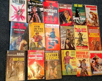 Huge Lot of 18 Vintage and Very Hard to Find Paperback Books - From the 50's & 60's VG+ Condition!