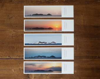 The Island - set of 5 fine art bookmarks