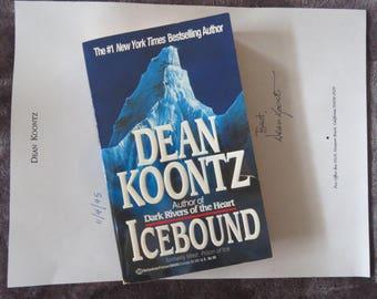 "Dean Koontz  ""Icebound""  Paperback Signed  NEW"
