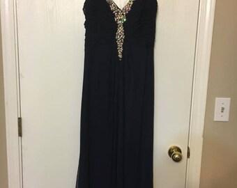 Navy Blue Size 12 Prom Dress