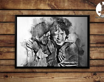 Mick Jagger Keith Richards Print  wall art hme decor poster