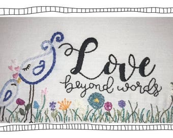 Embroidery Pattern- Love Beyond Words Floral