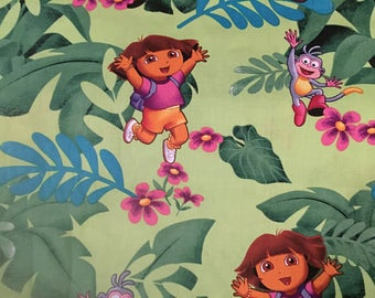 Dora the Explorer Cotton Fabric by the Yard