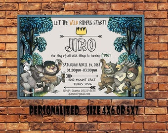 Where The Wild Things Are,Where The Wild Things Are Invitation,Where The Wild Things Are Birthday,Where The Wild Things Are Party,Downloded