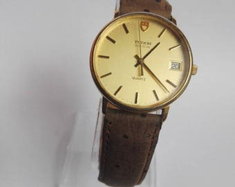 Vintage Tudor Geneve Gold plated Swiss made watch