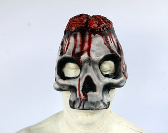 Skull Brains 3/4 Mask Latex Open Jaw