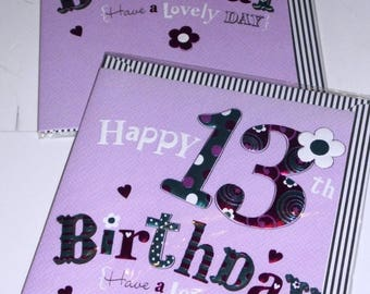 12 cards 13TH BIRTHDAY CARDS x12, JUST 35p - We also have birthday cards / christmas cards / thank you cards