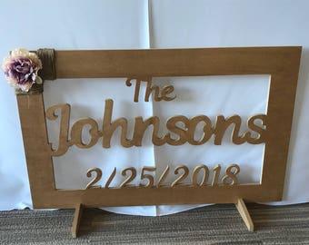 Custom last name wedding sign!
