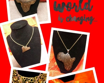 Beautifully hand crafted Africa pendent