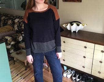 Vintage Liz Clairborne color block pullover sweater