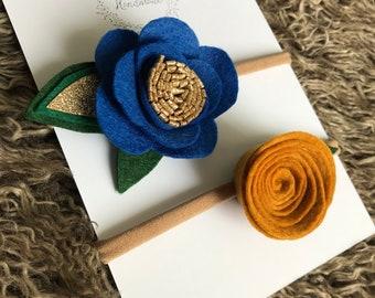 Vintage flower headband set