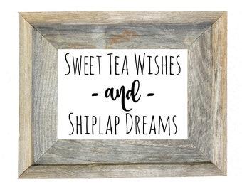 Sweet Tea and Shiplap Digital Print 5x7 // 8x10