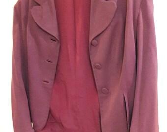 Maroon Vintage 1940's Jacket